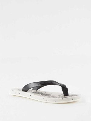 Dolce & Gabbana: flip flops online - Pineapple print rubber flip-flops