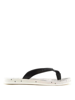 Dolce & Gabbana: flip flops - Pineapple print rubber flip-flops