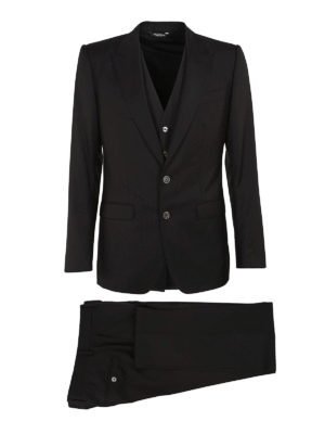 Dolce & Gabbana: formal suits - Black wool and silk formal suit
