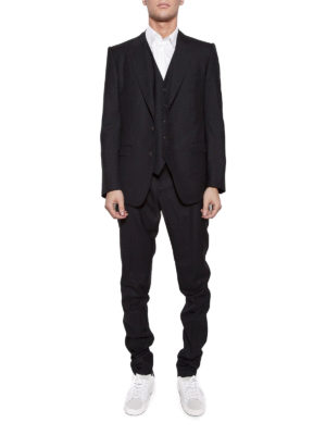 Dolce & Gabbana: formal suits online - Black wool and silk formal suit