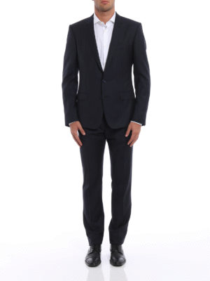 Dolce & Gabbana: formal suits online - Solid striped wool suit