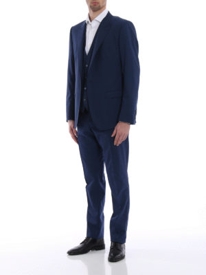 Dolce & Gabbana: formal suits online - Stretch wool tailored formal suit