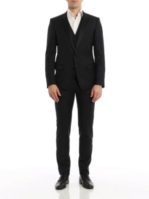 Dolce & Gabbana: formal suits online - Three-piece wool blend suit