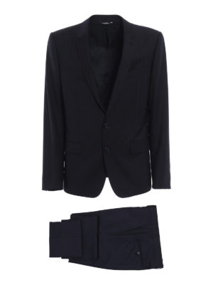 Dolce & Gabbana: formal suits - Solid striped wool suit
