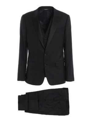 Dolce & Gabbana: formal suits - Three-piece wool blend suit
