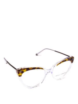 DOLCE & GABBANA: Occhiali - Occhiali da sole a occhi di gatto animalier