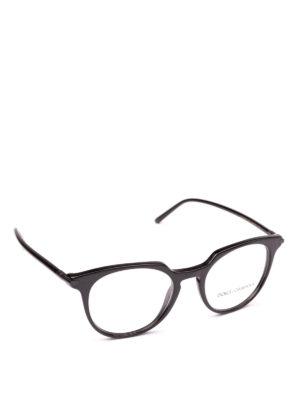 DOLCE & GABBANA: Occhiali - Occhiali da vista in acetato nero