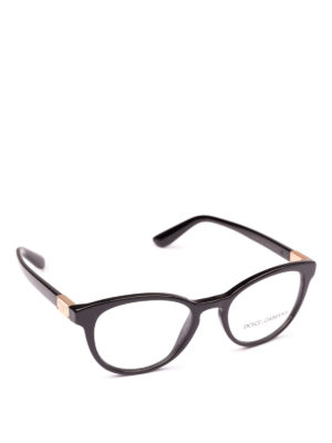 DOLCE & GABBANA: Occhiali - Occhiali da vista pantos in acetato nero
