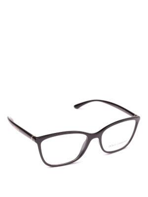 DOLCE & GABBANA: Occhiali - Occhiali da vista rettangolari neri