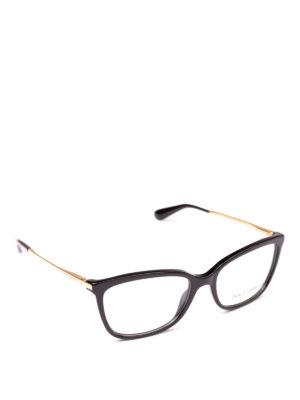 DOLCE & GABBANA: Occhiali - Occhiali da vista neri con aste oro