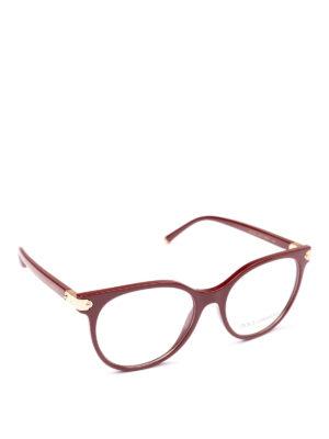DOLCE & GABBANA: Occhiali - Occhiali da vista a farfalla bordeaux