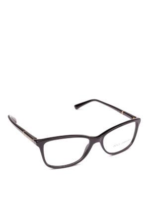 DOLCE & GABBANA: Occhiali - Occhiali da vista neri con logo dorato