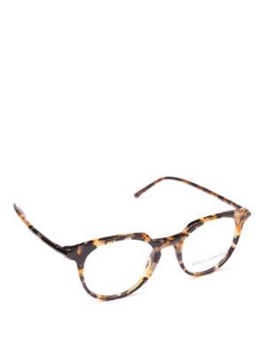 DOLCE & GABBANA: Occhiali - Occhiali da vista in acetato avana