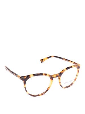 DOLCE & GABBANA: Occhiali - Occhiali da vista pantos avana