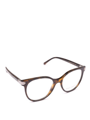 DOLCE & GABBANA: Occhiali - Occhiali da vista a farfalla avana