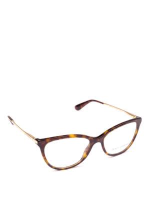 DOLCE & GABBANA: Occhiali - Occhiali da vista a occhi di gatto avana
