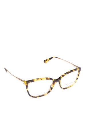 DOLCE & GABBANA: Occhiali - Occhiali da vista avana con aste dorate