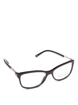 DOLCE & GABBANA: Occhiali - Occhiali da vista neri con placca logo