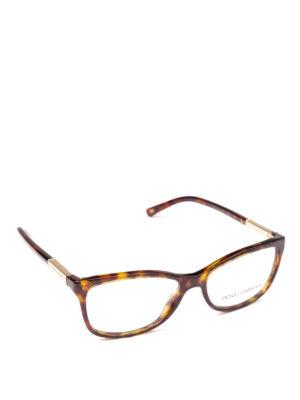DOLCE & GABBANA: Occhiali - Occhiali da vista tartarugati con placca logo