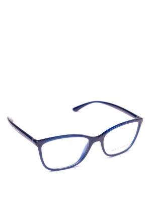 DOLCE & GABBANA: Occhiali - Occhiali da vista rettangolari blu opale