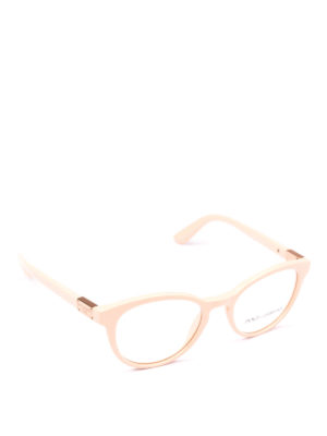 DOLCE & GABBANA: Occhiali - Occhiali da vista pantos in acetato rosa