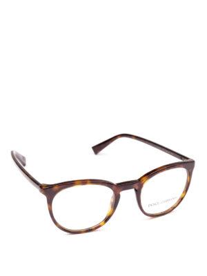 DOLCE & GABBANA: Occhiali - Occhiali da vista pantos tartarugati