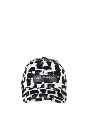Dolce & Gabbana: hats & caps online - Patterned cotton twill baseball cap