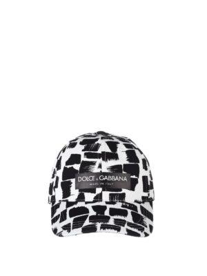Dolce & Gabbana: hats & caps online - Patterned cotton twill baseball cap