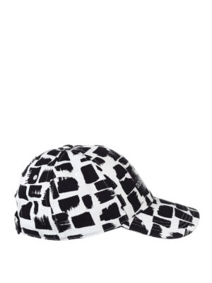 Dolce & Gabbana: hats & caps - Patterned cotton twill baseball cap