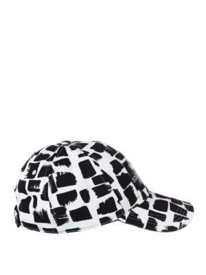 Dolce & Gabbana: hats & caps - Patterned cotton twill baseball cap