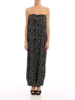 Dolce & Gabbana: jumpsuits online - Polka dot silk charmeuse jumpsuit
