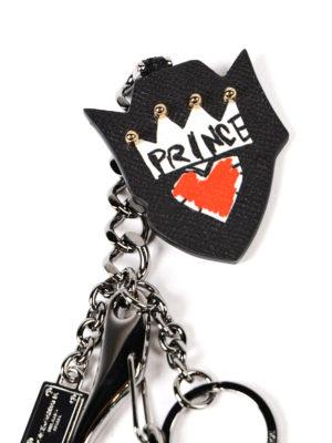 Dolce & Gabbana: key holders online - Prince leather crest keyholder