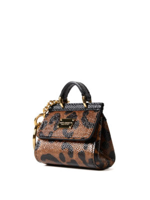 Dolce & Gabbana: key holders online - Sicily leo print key holder