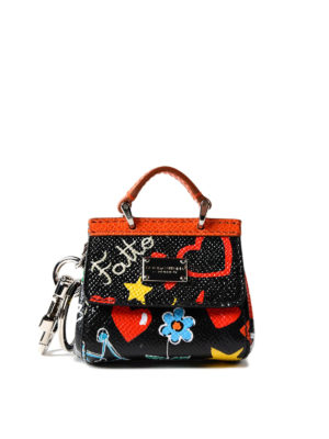 Dolce & Gabbana: key holders - Sicily murals print key holder