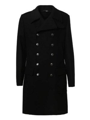 Dolce & Gabbana: knee length coats - Army style wool coat