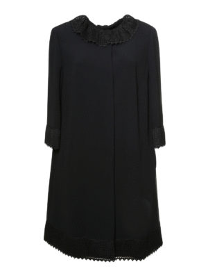 Dolce & Gabbana: knee length coats - Cady crepe overcoat