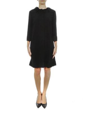 Dolce & Gabbana: knee length coats online - Cady crepe overcoat