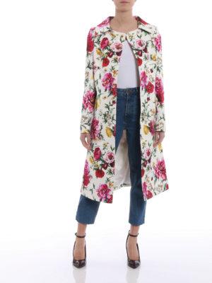 Dolce & Gabbana: knee length coats online - Floral print damask coat