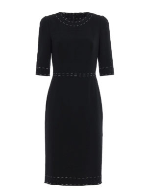 Dolce & Gabbana: knee length dresses - Bon ton crepe sheath dress