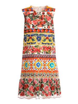 Dolce & Gabbana: knee length dresses - Mambo print cotton dress