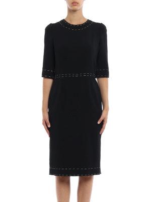 Dolce & Gabbana: knee length dresses online - Bon ton crepe sheath dress