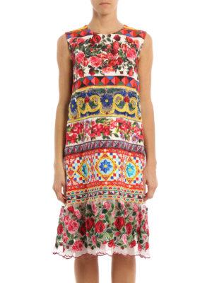 Dolce & Gabbana: knee length dresses online - Mambo print cotton dress