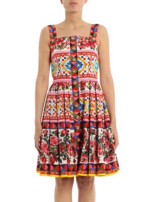 Dolce & Gabbana: knee length dresses online - Mambo print cotton sleeveless dress