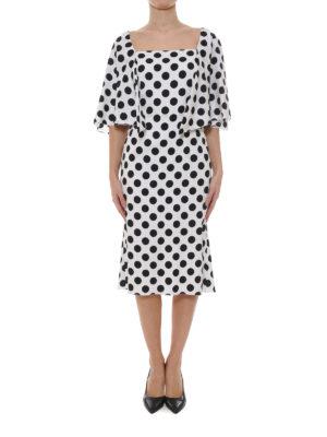 Dolce & Gabbana: knee length dresses online - Polka dot silk dress