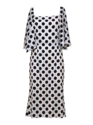 Dolce & Gabbana: knee length dresses - Polka dot silk dress