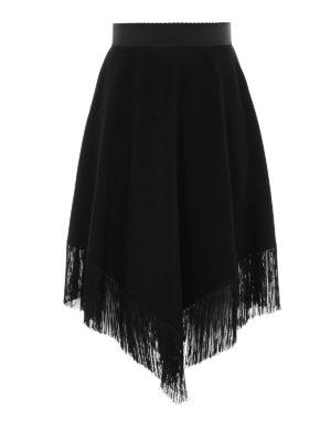 Dolce & Gabbana: Knee length skirts & Midi - Fringed knee length skirt