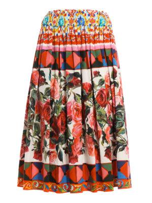 Dolce & Gabbana: Knee length skirts & Midi - Mambo print cotton skirt