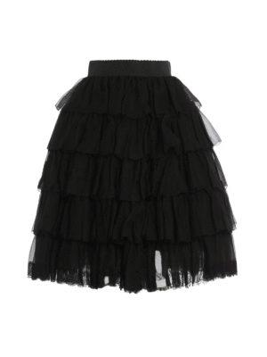 Dolce & Gabbana: Knee length skirts & Midi - Multilayered flounced skirt