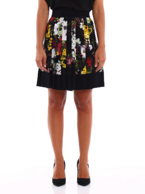 Dolce & Gabbana: Knee length skirts & Midi online - Floral printed silk pleated skirt