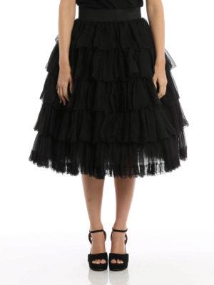 Dolce & Gabbana: Knee length skirts & Midi online - Multilayered flounced skirt